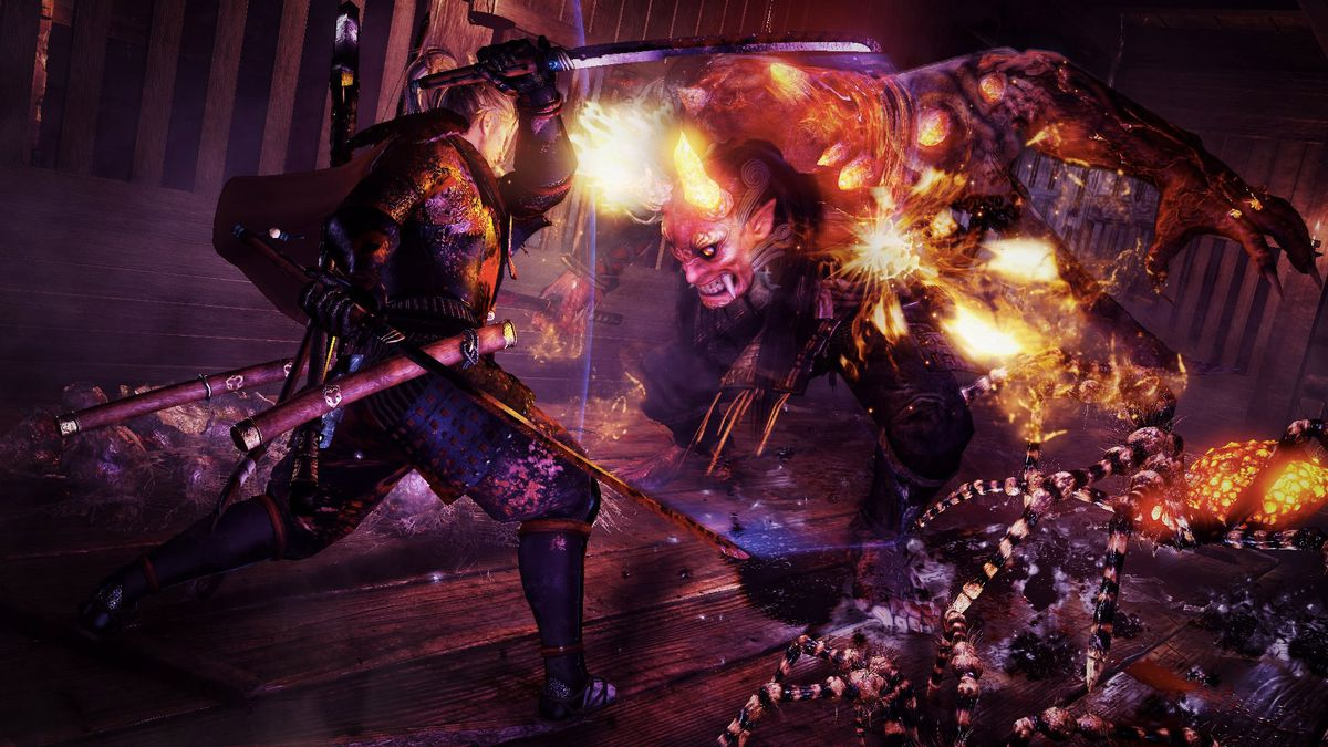 Nioh - fighting a demon
