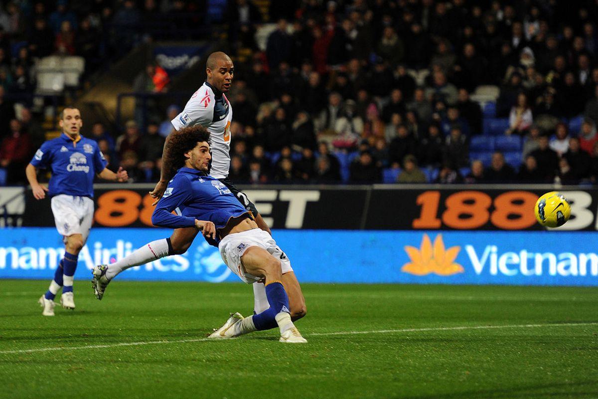 Fellaini scores against Bolton