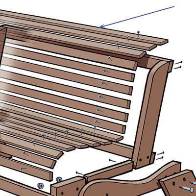 Slat Installation Of Garden Bench