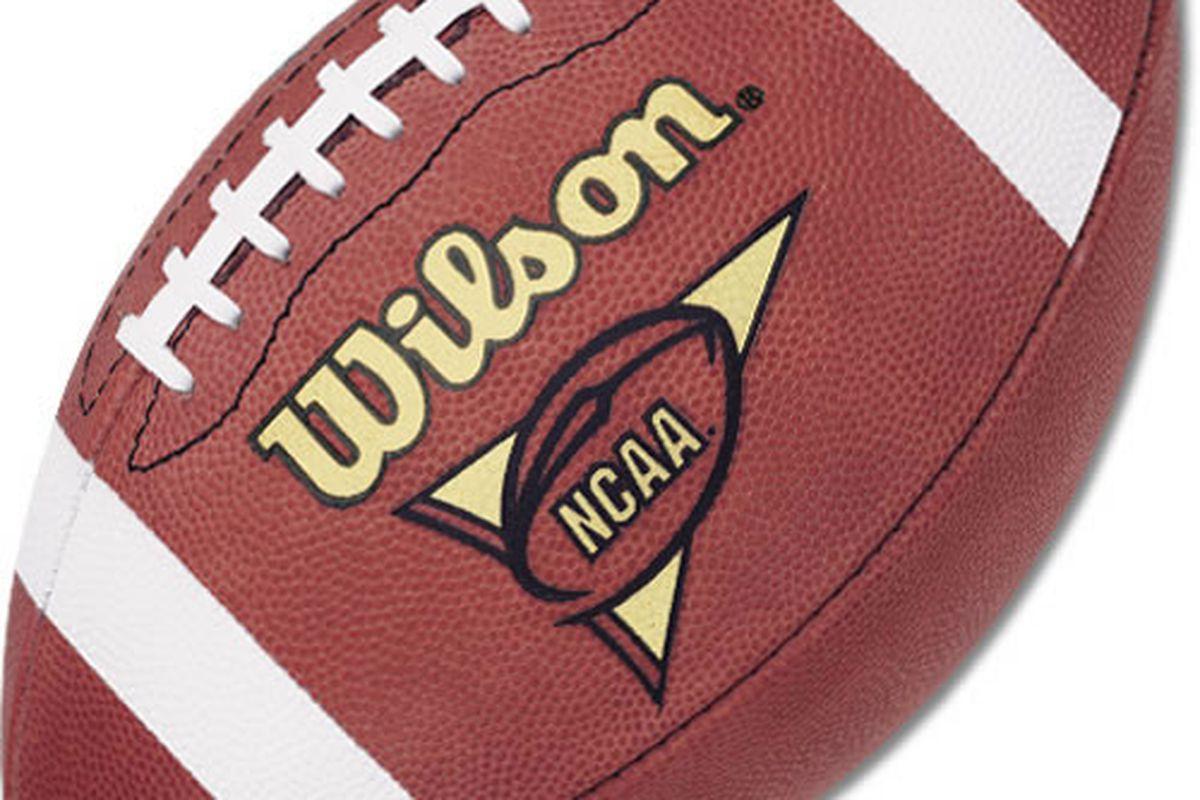 "via <a href=""http://www.robbinssports.com/sporting-goods-store/images/wilson-f1005r-leather-official-ncaa-football.jpg"">www.robbinssports.com</a>"