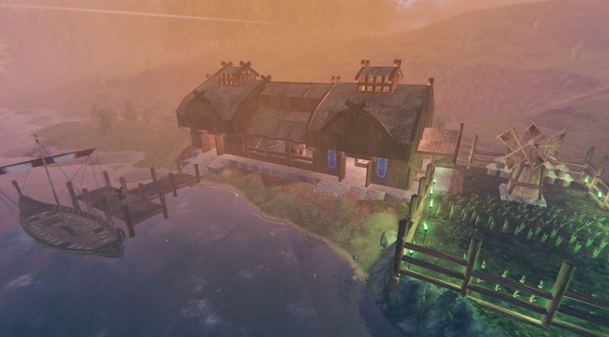 Valheim plains biome building farm