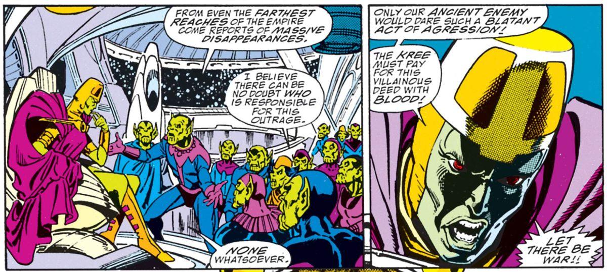 From Infinity Gauntlet #1, Marvel Comics (1991).