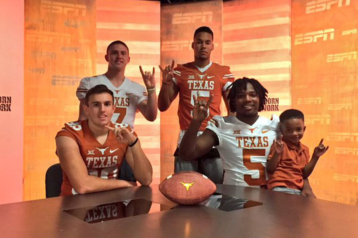 From left to right: Peyton Aucoin, Shane Buechele, Collin Johnson, and Demarco Boyd
