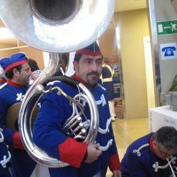 This man plays tuba.