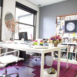 Gordon's workspace in her Downtown LA studio.