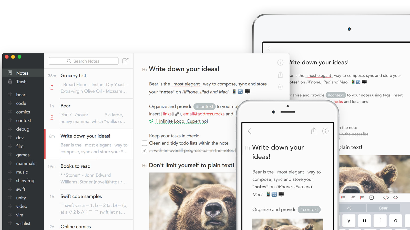 Note-taking App Bear is Rapidly Improving with New Features
