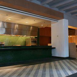 <em>The open kitchen.</em>
