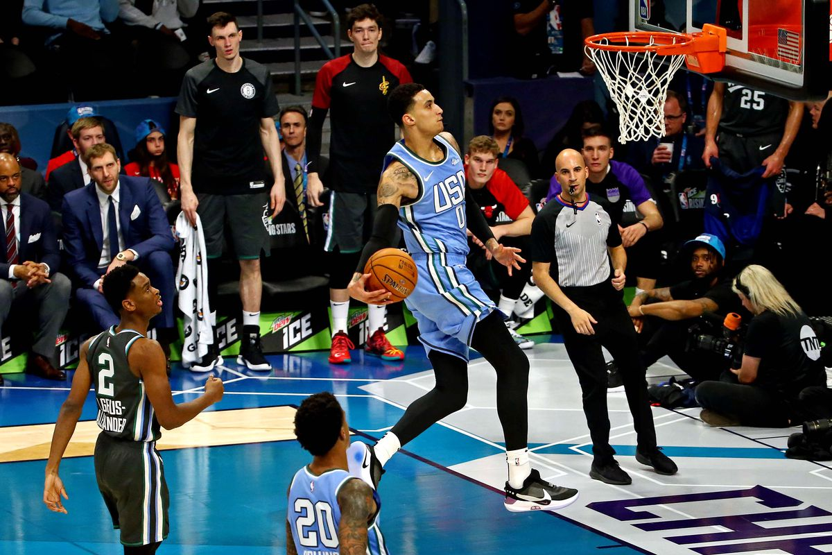 18094a17404 Kyle Kuzma breaks Kobe Bryant s scoring record for Lakers in Rising Stars  Challenge