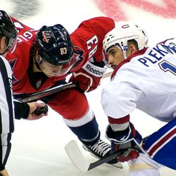 Plekanec and Beagle About to Face Off
