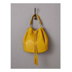 """Leather Pouch Bag in Sunshine, $142 (on sale from $178) at <a href=""""http://www.bodenusa.com/en-US/Womens-Accessories/Bags/AM182/Womens-Leather-Pouch-Bag.html"""">Boden</a>"""