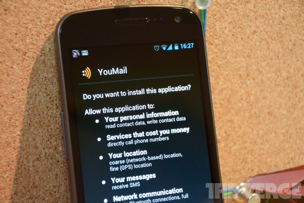 Visual voicemail app YouMail pulled from Android Market at T