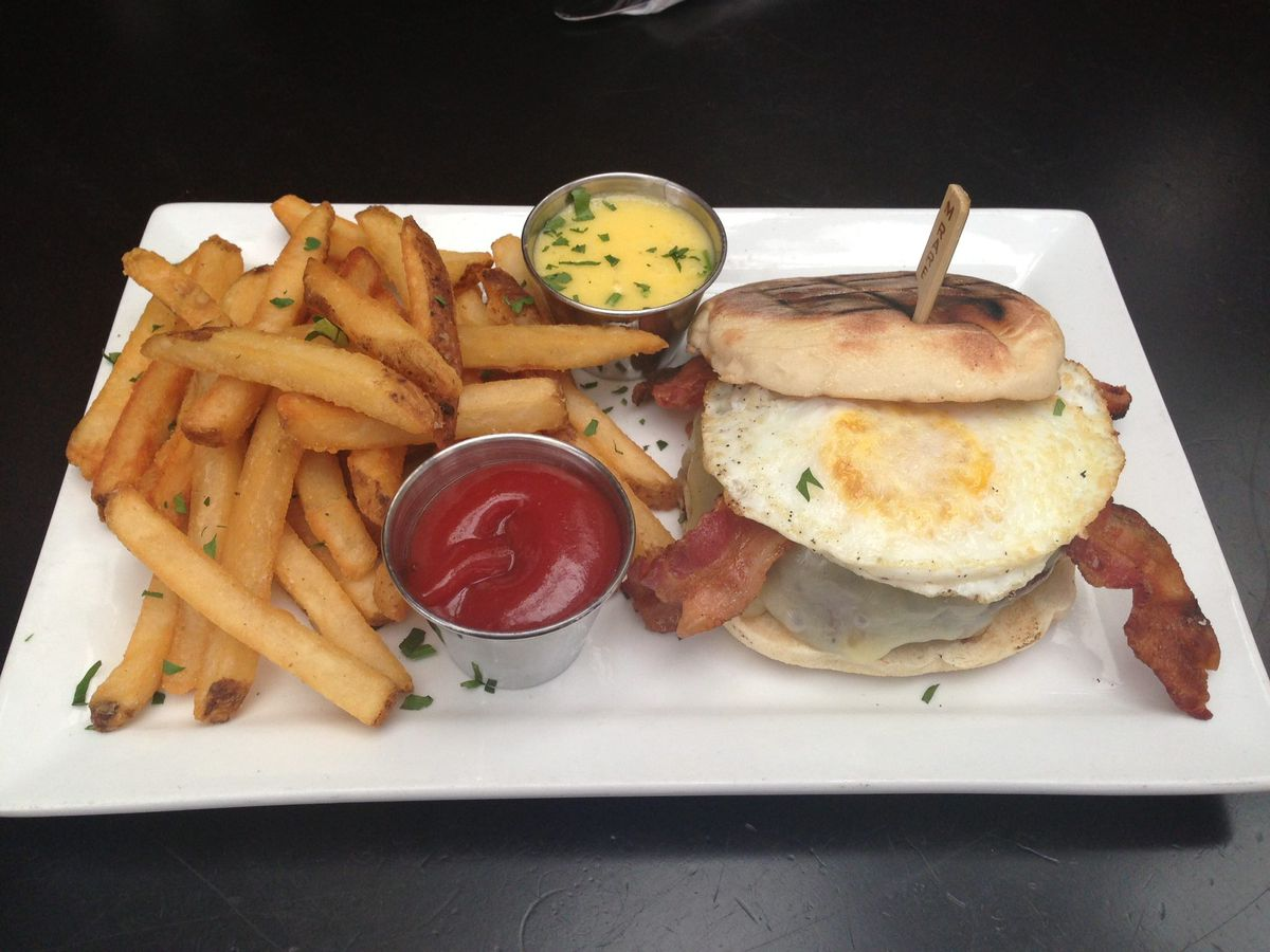 Breakfast Burger at Anthem