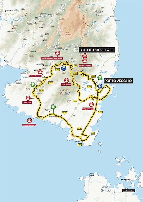Criterium International stage 3 map