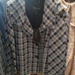 Tweed jacket, $350 (from $1,590)