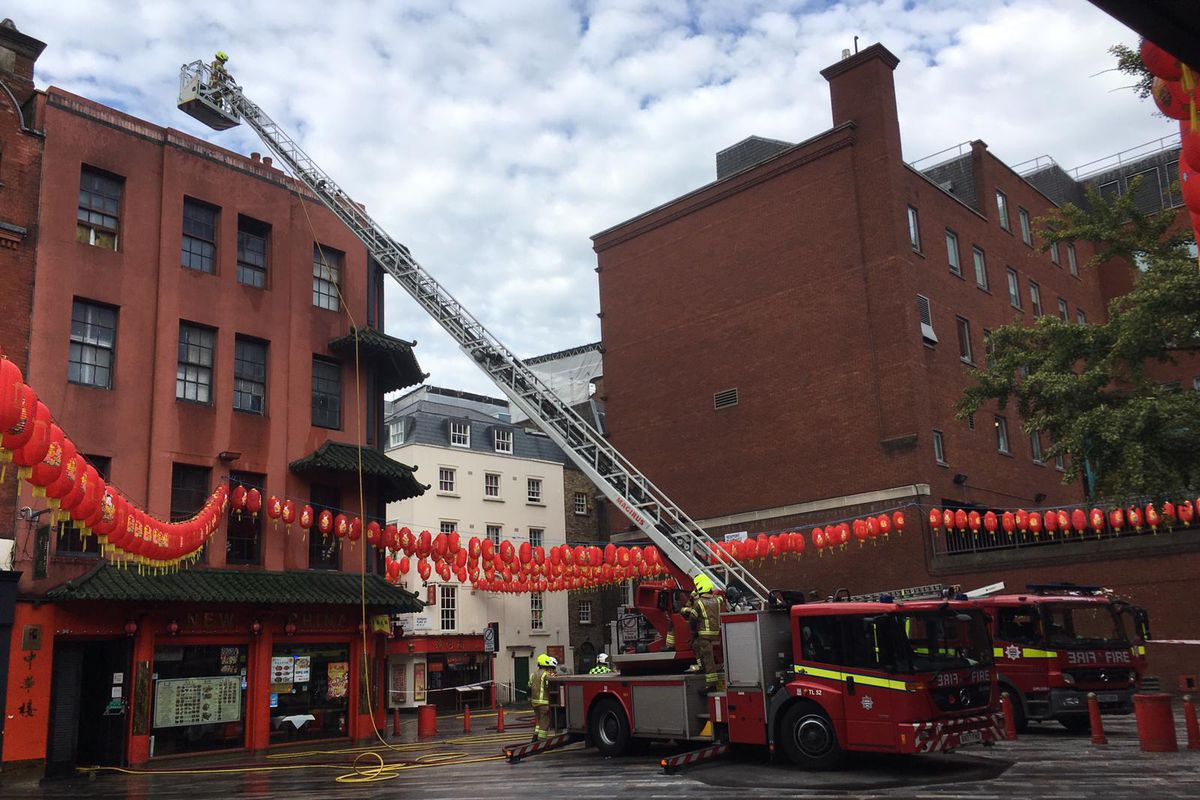 Chinatown restaurant on fire is New China