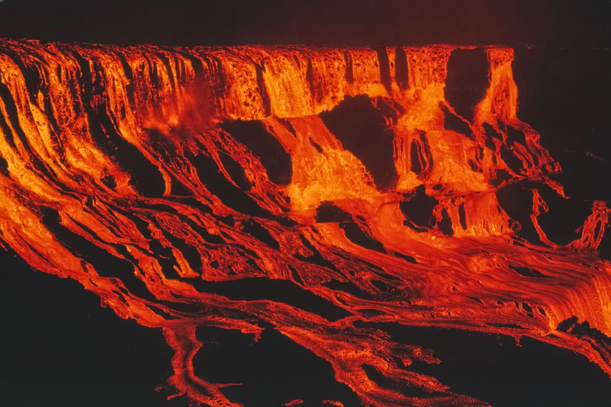 August 5, 1969: Mauna Ulu in Hawaii sent lava flowing into 'Alae crater.
