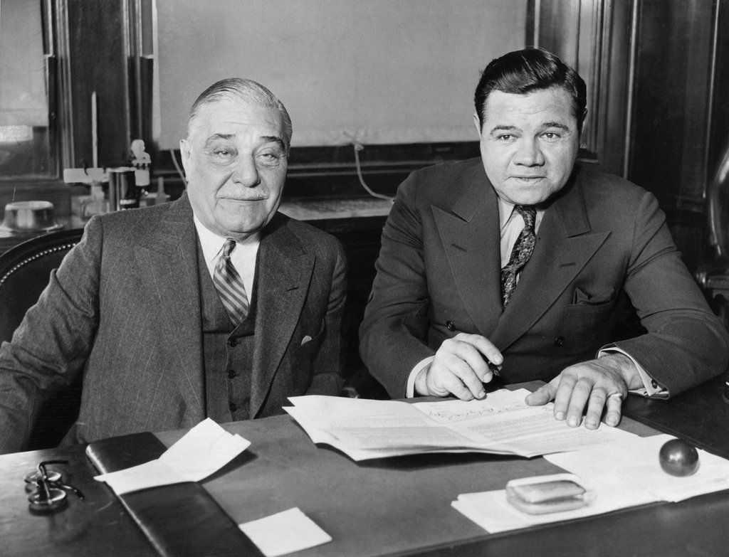 Owner of the Yankees and Babe Ruth in 1934
