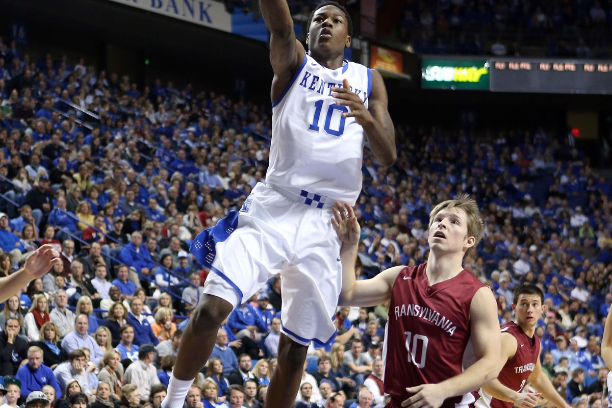 Archie Goodwin's ability to get to the rim from the point guard spot will benefit UK in its battle with Duke.