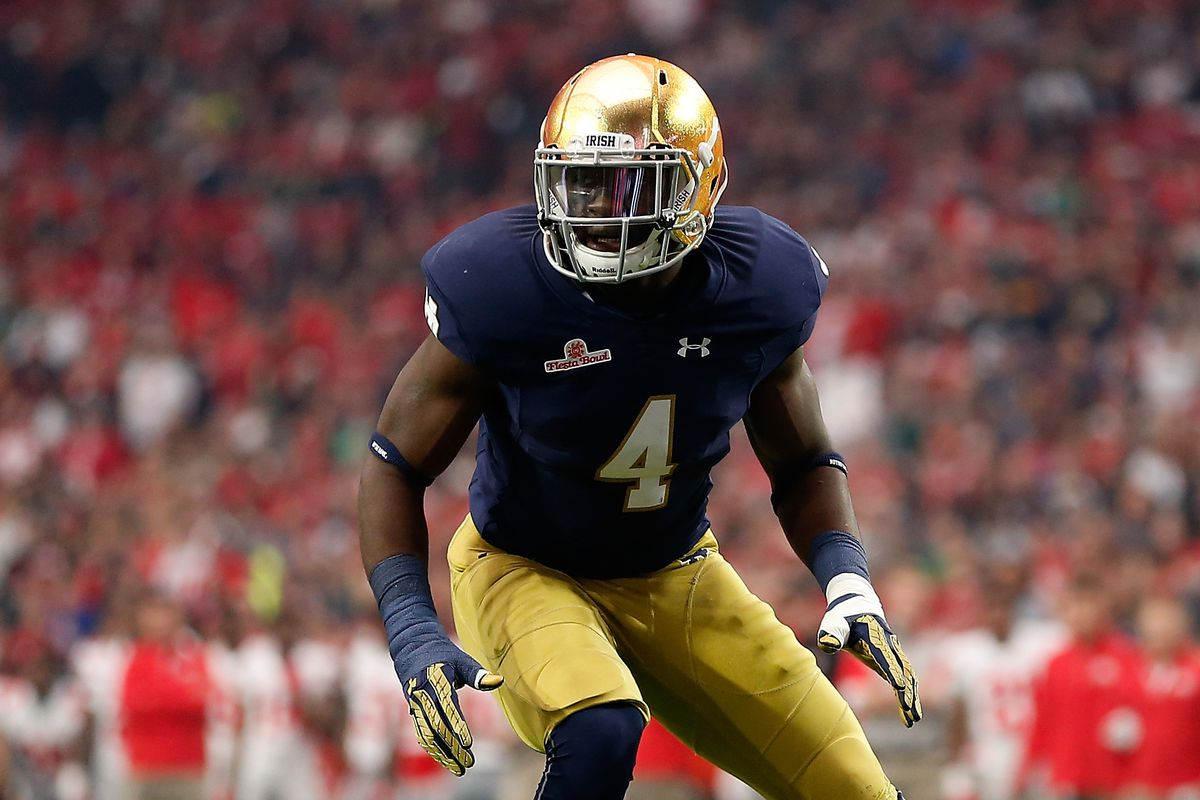 2018 Notre Dame Football Scholarship Chart - One Foot Down