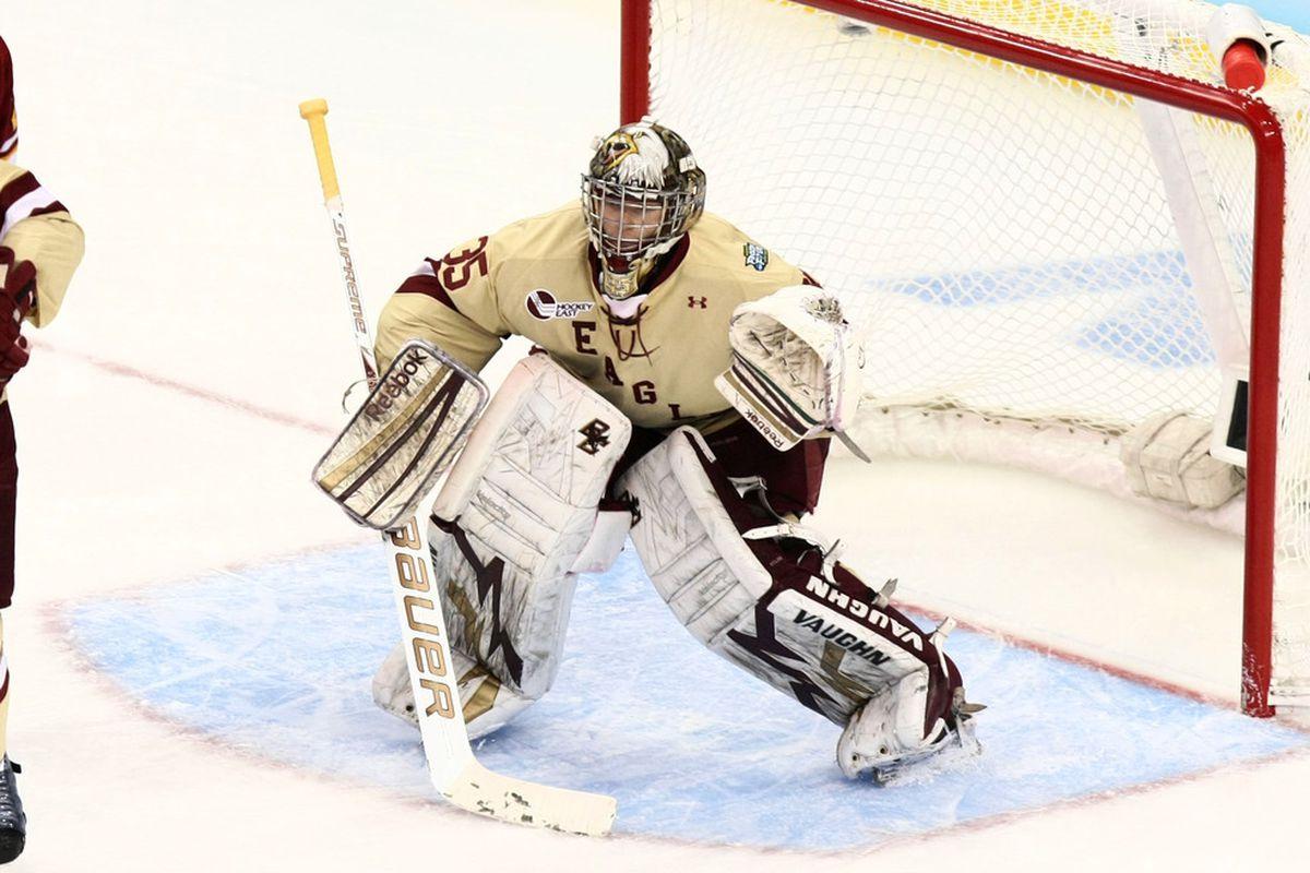 Current Boston College junior Brian Billett was stuck behind Parker Milner (pictured) his first two seasons.