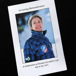 A program for the memorial service for Deedee Corradini at Wasatch Presbyterian Church in Salt Lake City, Monday, March 9, 2015.