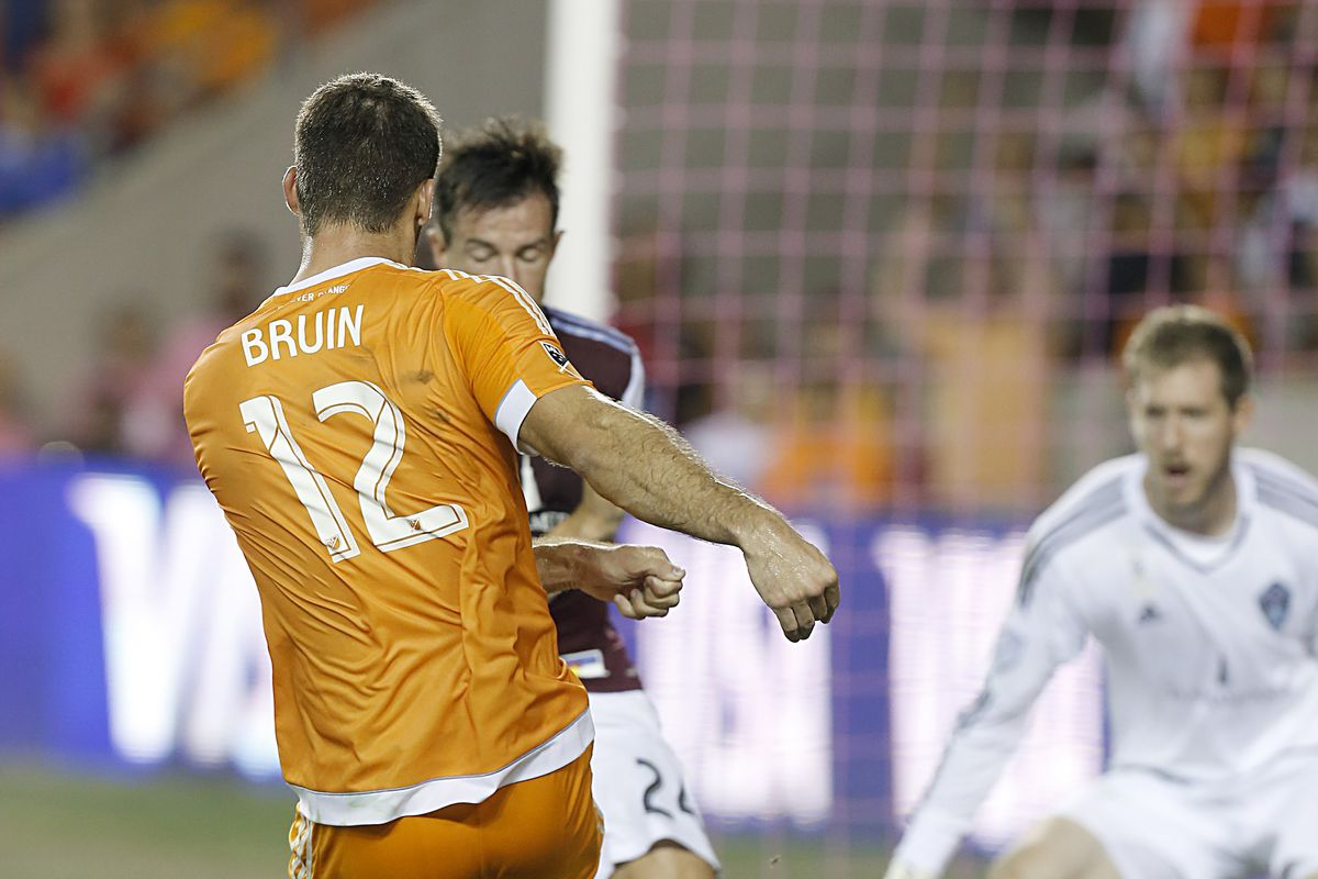 St Ledger blocks this one. That's good! Mostly, though, the Dynamo went through the Rapids back line with impunity.