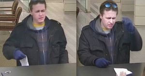 Surveillance photos of the man suspected of robbing at least eight suburban banks this year. | FBI