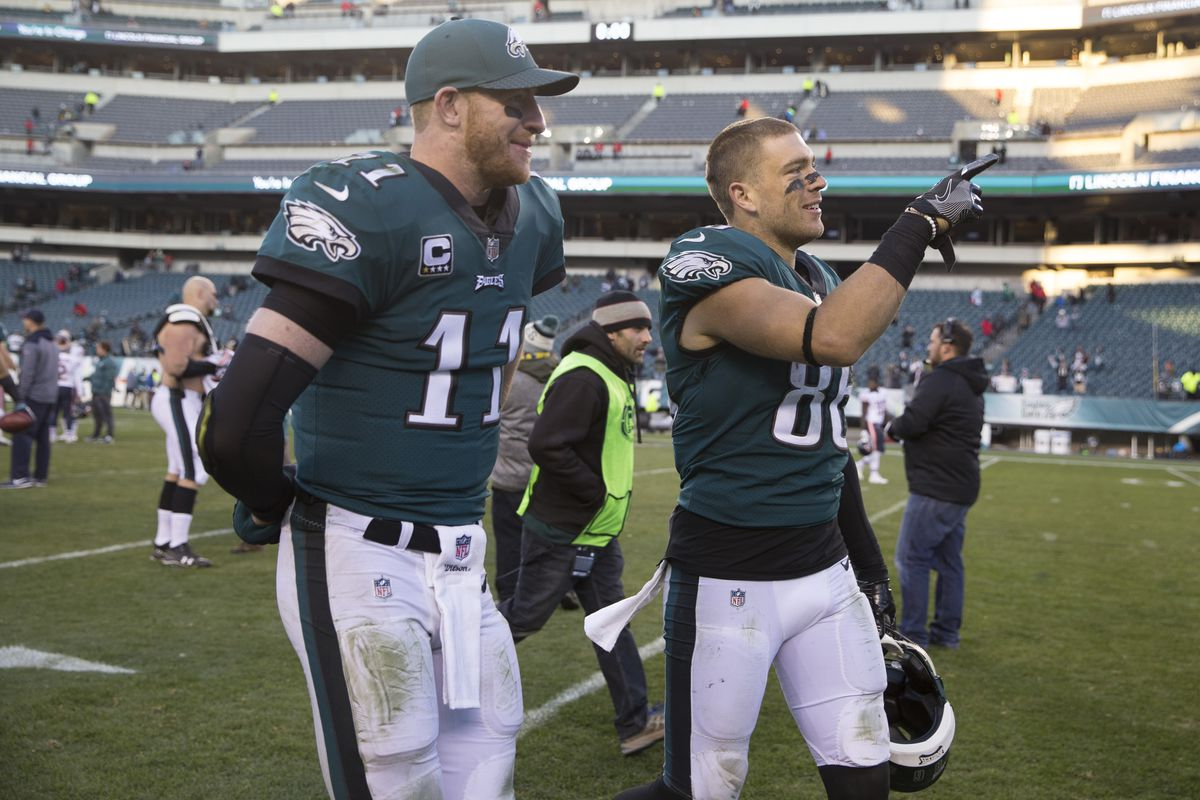 new style a5c0b d5b22 Zach Ertz shares an awesome story about Carson Wentz, the ...