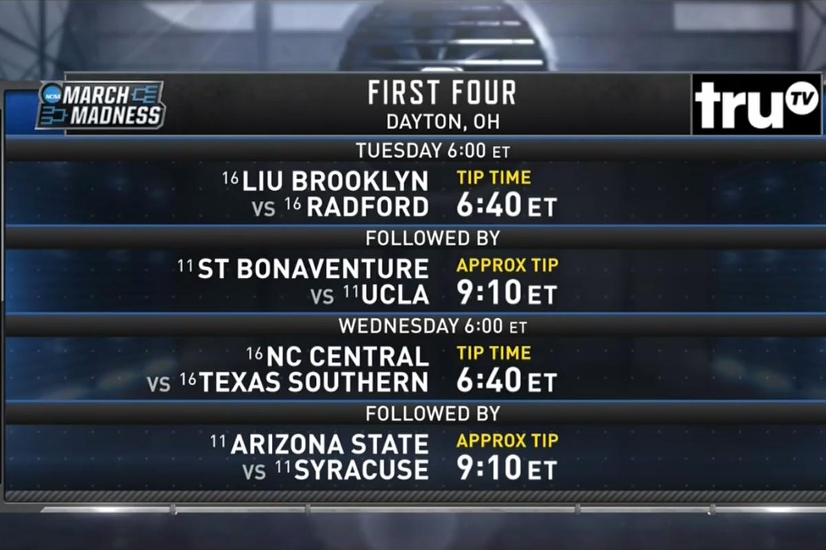 NCAA tournament 2018: First Four schedule set for Dayton - SBNation.com