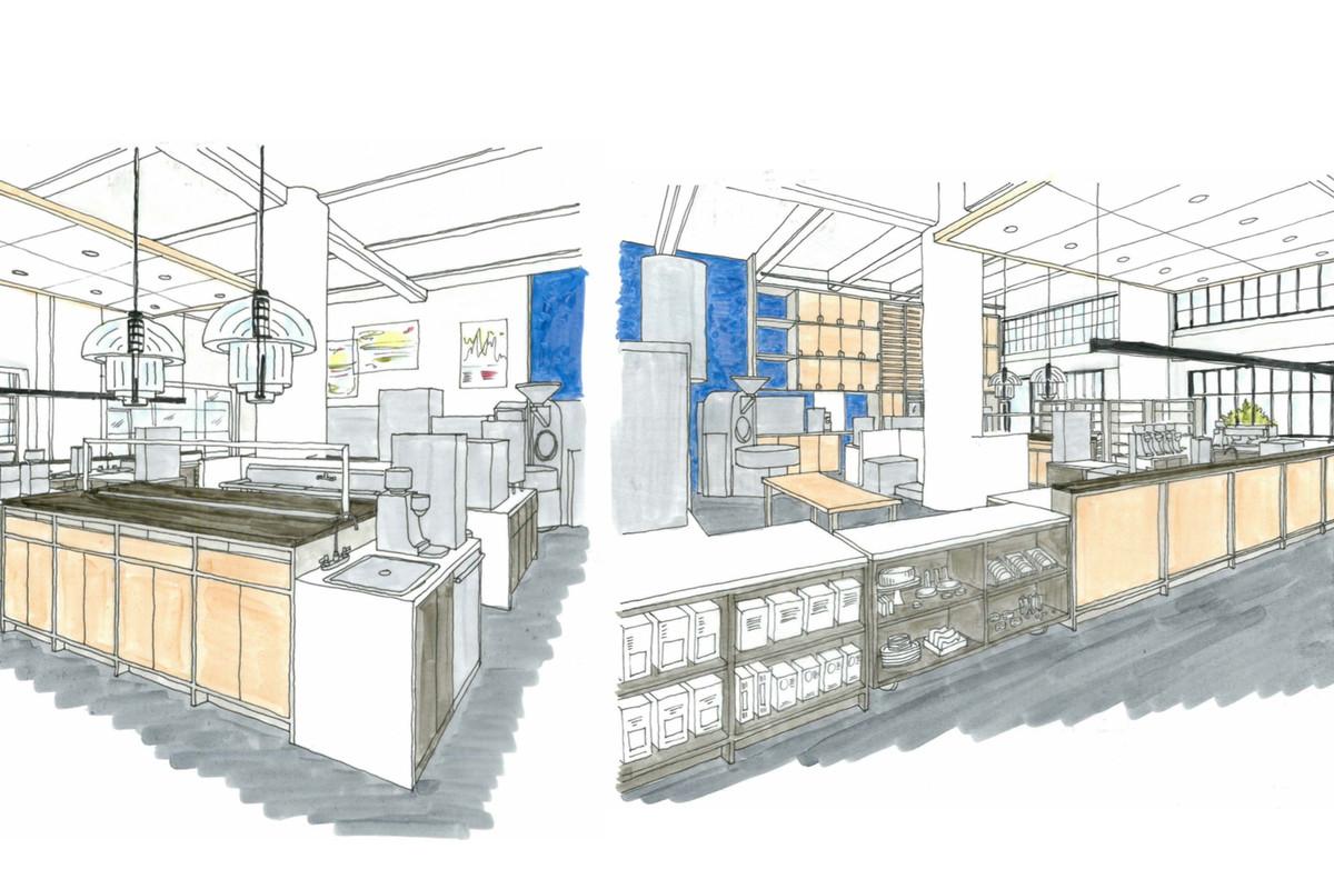 Rendering of Tartine Manufactory in Los Angeles