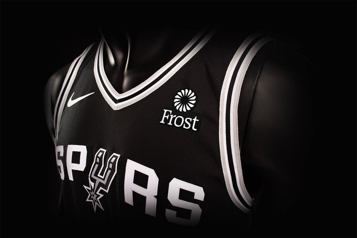 The Spurs have their first jersey sponsor in Frost Bank - Pounding ... 4fb89bc38