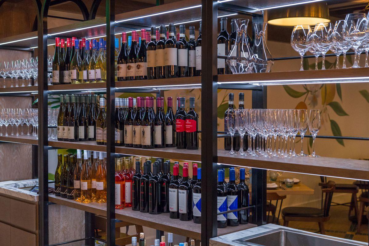 The wine at Osteria Costa