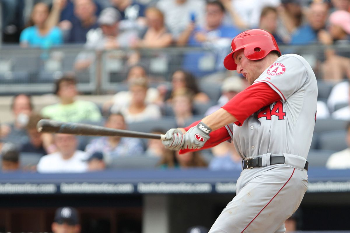 Mark Trumbo hits like a corner outfielder. Eduardo Nunez, on the other hand... (Anthony Gruppuso-US PRESSWIRE)