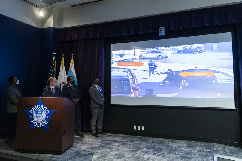 Chicago police show surveillance video of the murder of retired Chicago Firefighter Dwain Williams in the Morgan Park neighborhood.