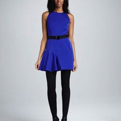 """This royal blue cocktail dress is perfect for a summer wedding and the color looks striking against tanned skin. $134, <a href=""""http://www.cusp.com/product.jsp?rte=%252Fetemplate%252Fp6E.jsp%253FNtpc%253D1%2526parentId%253Dcat110001%2526Nty%253D1%2526Ntpr"""