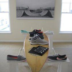 The footwear room inside Nike's Rockaway11 house.