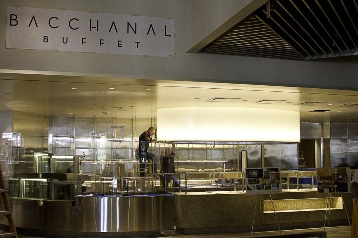 The view of Bacchanal Buffet as guests enter.