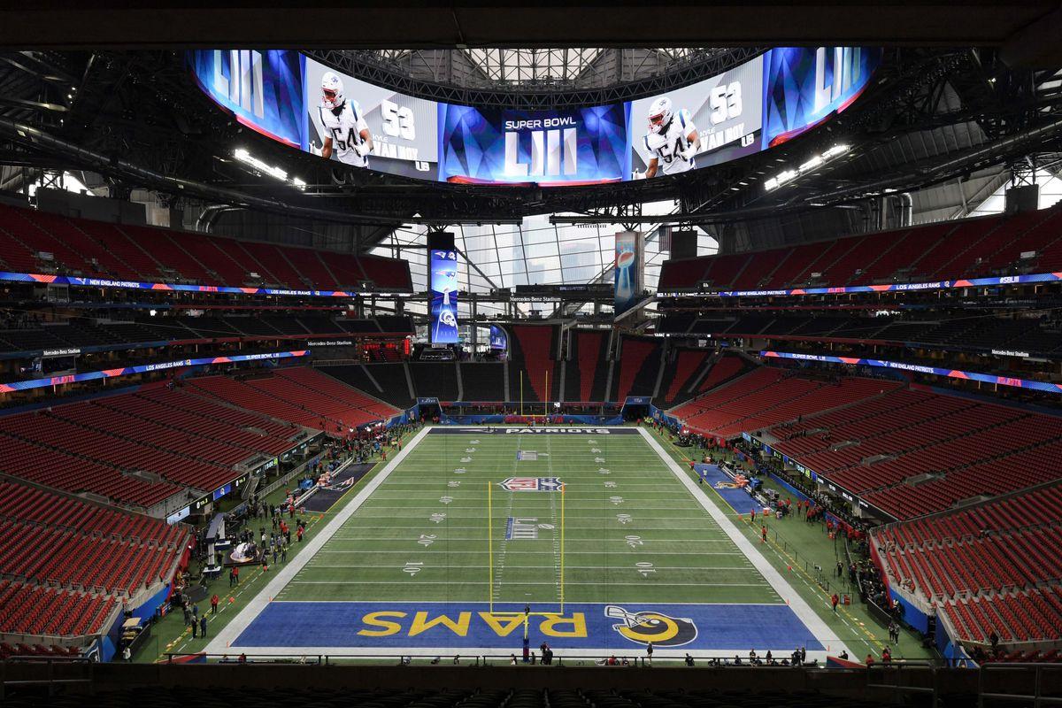 52df7259 NFL Super Bowl LIII: New England Patriots vs Los Angeles Rams - Hogs ...