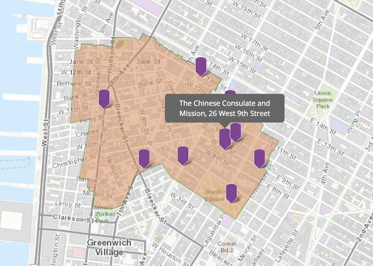 Subway Map Greenwich Village.See Greenwich Village S Historic Buildings In One Handy Map Curbed Ny
