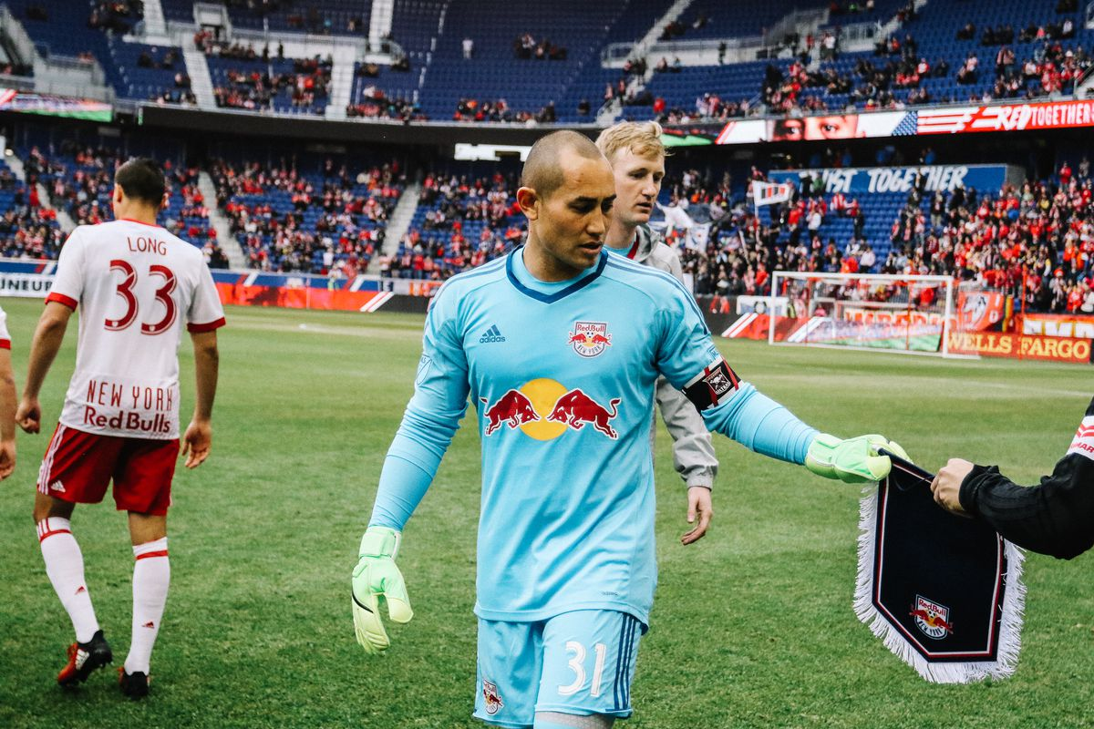Luis Robles is New York Red Bulls captain for the MLS regular-season game against Real Salt Lake; March 25, 2017