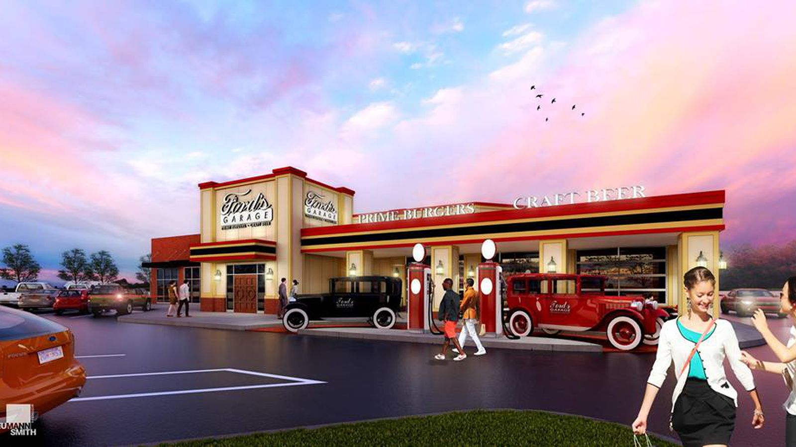 Car Themed Restaurant Ford S Garage Cruises Into Dearborn