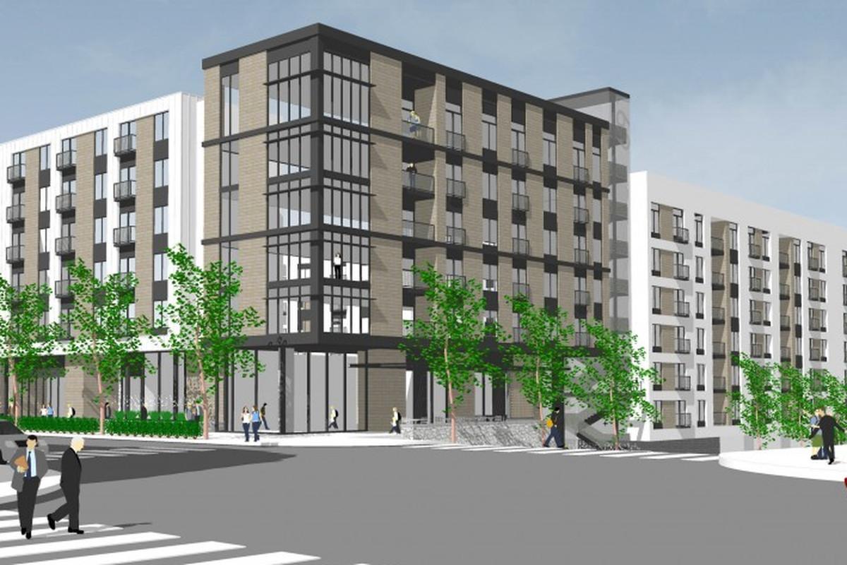 "Rendering of <a href=""http://www.westbridgepartners.net/development/691_14th_street/"">Elan Westside Apartments</a>."