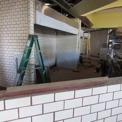 The space for the pizza ovens.