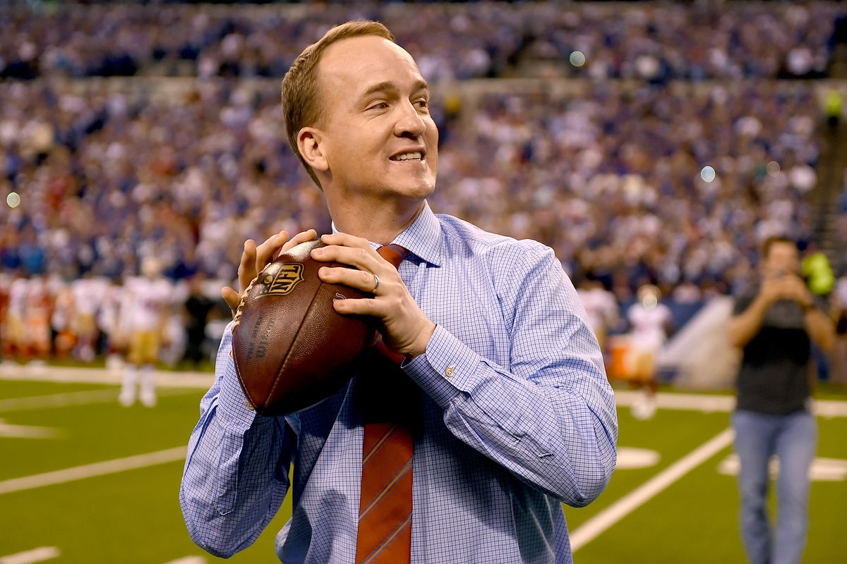 Peyton Manning promoting safe helmets, NFL history and Tuesday laundry nights