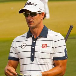 """<span class=""""credit"""">Image <a href=""""http://chapeaunoirgolf.com/chapeaunoirblog/2013/4/9/adam-scott-signs-multi-year-deal-with-uniqlo.html"""">via</a></span><br></br> This is Adam. <b>Adam Scott</b> is the one million reasons to watch golf, and he's also a U"""