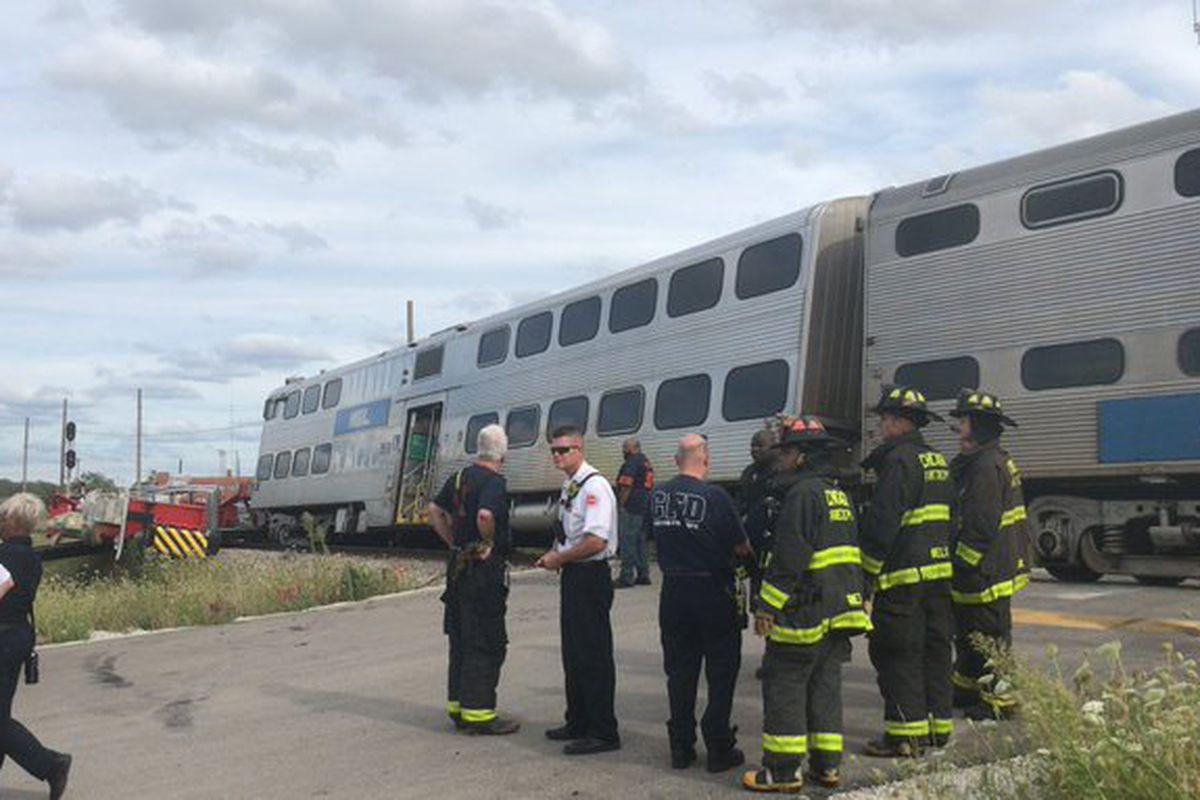 A Metra train experienced a minor derailment on Sept. 13, 2019.