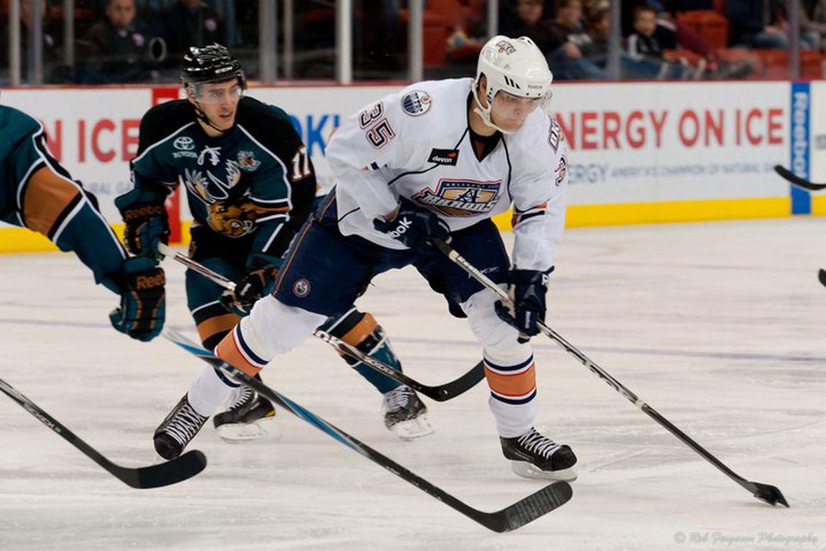 """Photo by Rob Ferguson, <a href=""""http://www.okchockey.com/"""" target=""""new"""">OKC Hockey</a>, with permission."""