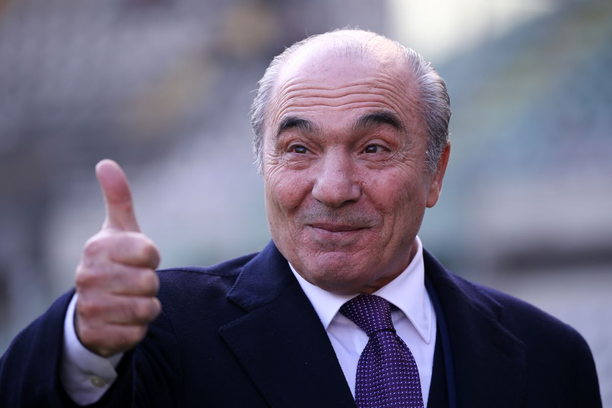 Rocco Commisso president of ACF Fiorentina, looks on before...