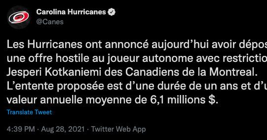 Los Hurricanes y Canadiens se dedican a la carne de vacuno más 'sin clases' del hockey