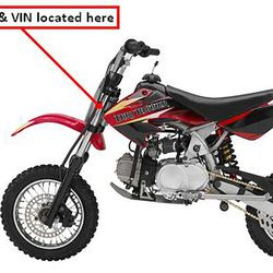 This undated photo taken from the U.S. Consumer Product Safety Commission website shows the Baja DR70 Dirt Bike imported by Baja Inc. d/b/a Baja Motorsports, of Anderson, S.C., and manufactured in China. The product is being recalled because the fuel tank can leak, posing a fire and burn hazard to consumers.
